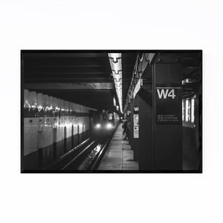 Noir Gallery Black White New York City Subway Framed Art Print