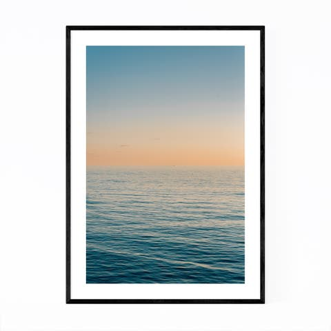 Noir Gallery Coastal Beach Ocean Sunset Framed Art Print