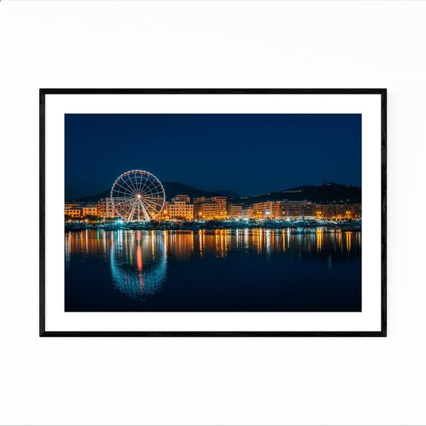 Noir Gallery Salerno Italy Ferris Wheel Framed Art Print