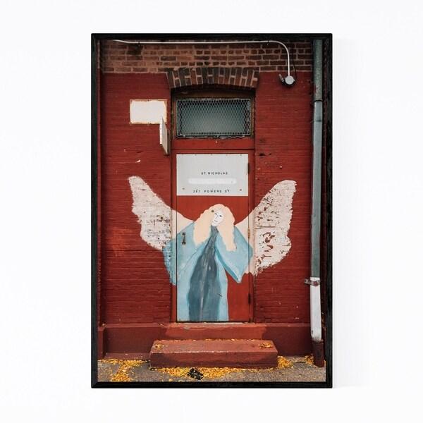 Noir Gallery Brooklyn Catholic Mural NYC Framed Art Print