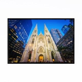 Noir Gallery St. Patricks Cathedral New York Framed Art Print