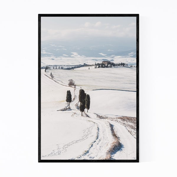Noir Gallery Tuscany Italy Snow Winter Nature Framed Art Print
