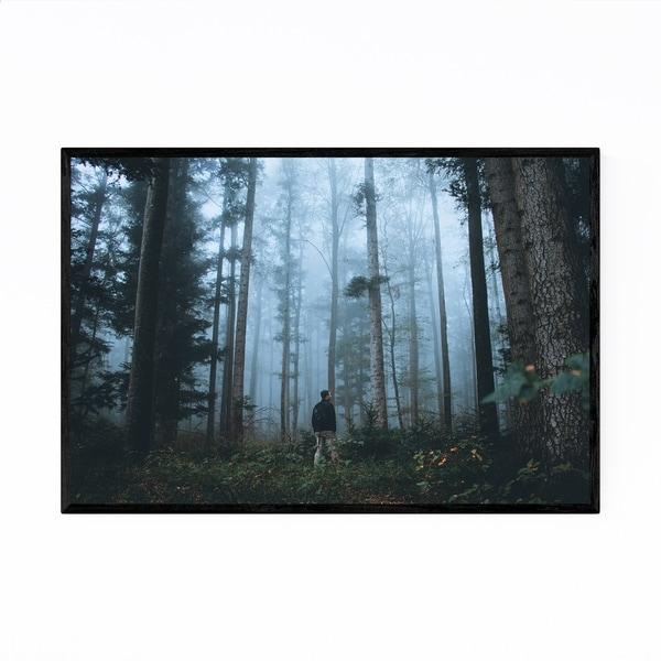 Noir Gallery Foggy Forest Jura Switzerland Framed Art Print