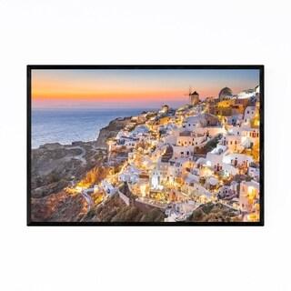 Noir Gallery Oia Santorini Greece Coastal Framed Art Print