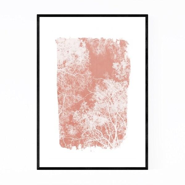 Noir Gallery Minimal Pink Tree Leaves Framed Art Print