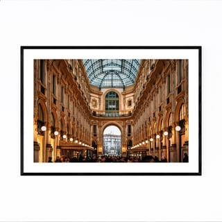 Noir Gallery Milan Italy Architecture Photo Framed Art Print