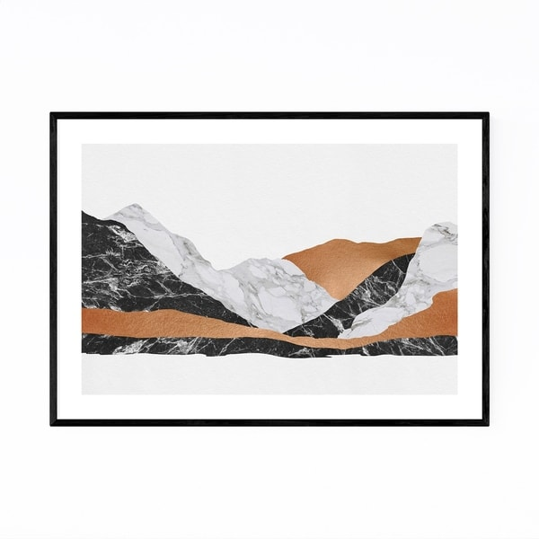 Noir Gallery Abstract Marble Mountain Nature Framed Art Print