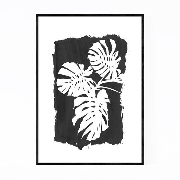 Noir Gallery Minimal Black Botanical Plant Framed Art Print