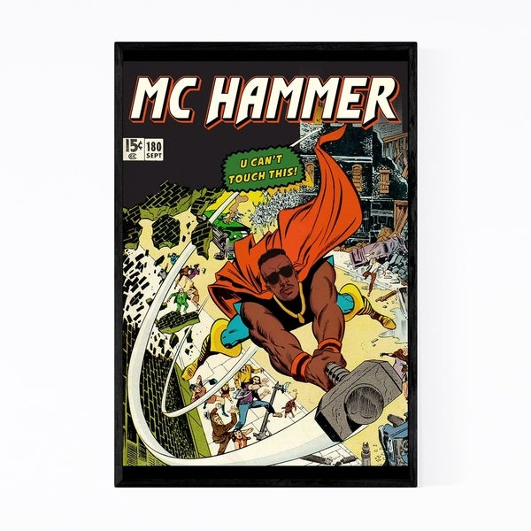 Noir Gallery MC Hammer Hip Hop Music Rappers Framed Art Print