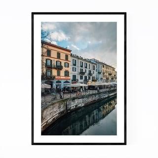 Noir Gallery Milan Italy Navigli Canal Framed Art Print