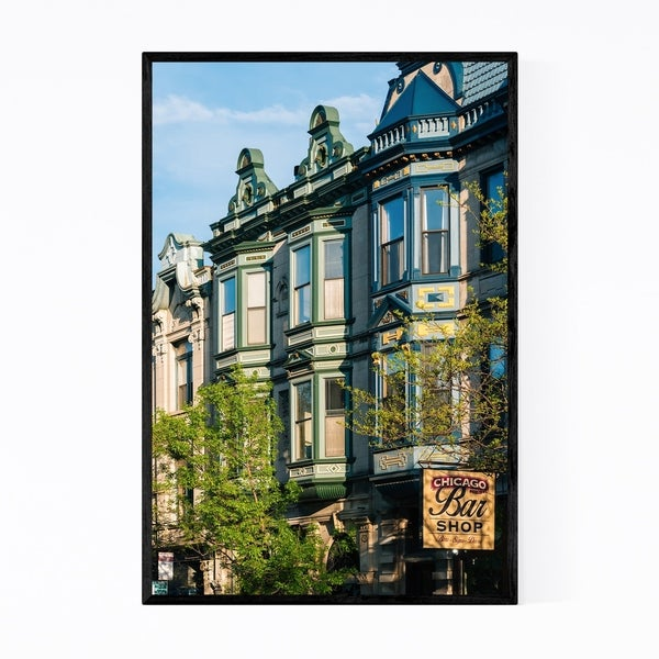Noir Gallery Chicago Lincoln Park Buildings Framed Art Print