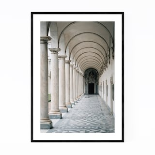 Noir Gallery Naples Italy Architecture Framed Art Print