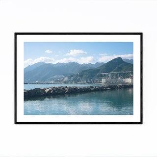 Noir Gallery Salerno Italy Amalfi Mountains Framed Art Print