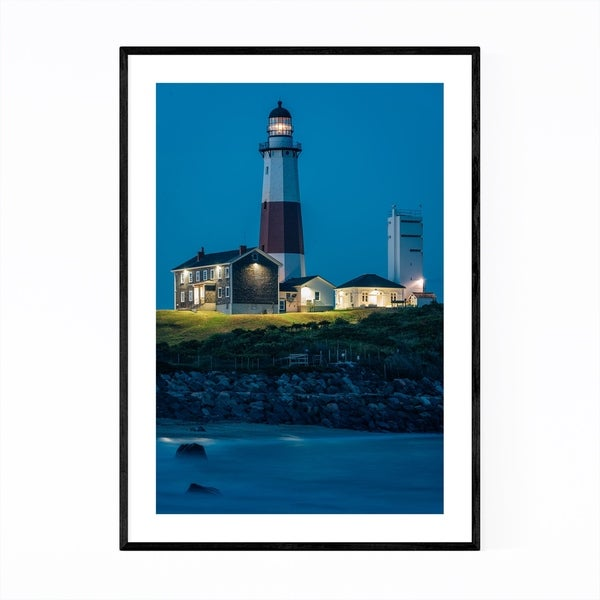 Noir Gallery Montauk Lighthouse Hamptons NY Framed Art Print