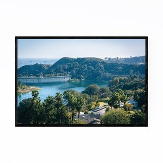 Noir Gallery Hollywood Reservoir Los Angeles Framed Art Print