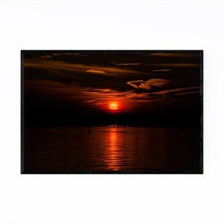 Noir Gallery Ocean City Maryland Sunset Framed Art Print