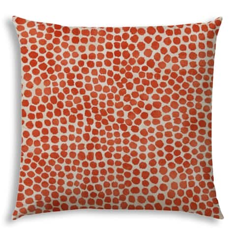 SWEET PUFF Orange Indoor/Outdoor Pillow - Sewn Closure
