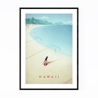 Noir Gallery Minimal Travel Poster Hawaii Framed Art Print