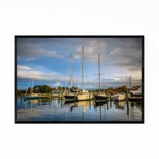 Noir Gallery St. Michaels Maryland Boats Framed Art Print