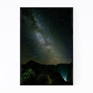 Noir Gallery Milky Way Cusco Peru Landscape Framed Art Print
