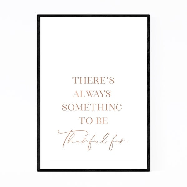 Noir Gallery Thankfulness Typography Framed Art Print