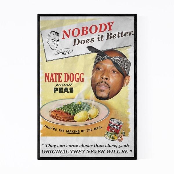 Noir Gallery Nate Dogg Hip Hop Music Vintage Framed Art Print