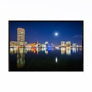 Noir Gallery Inner Harbor Skyline Baltimore Framed Art Print