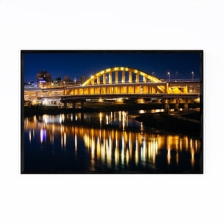 Noir Gallery Taipei Taiwan Night Cityscape Framed Art Print