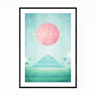Noir Gallery Minimal Travel Poster Mexico Framed Art Print