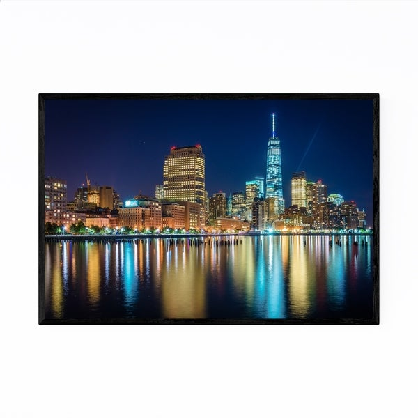 Noir Gallery Lower Manhattan Skyline New York Framed Art Print