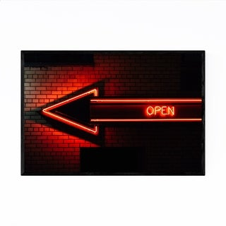 Noir Gallery Open Neon Sign New York City Framed Art Print