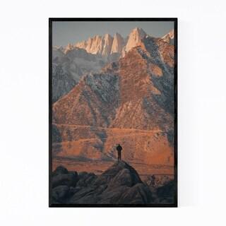 Noir Gallery Mt. Whitney California Mountains Framed Art Print