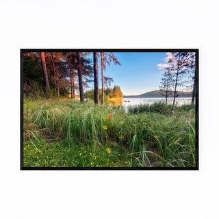 Noir Gallery Bulgaria Lake Landscape Nature Framed Art Print