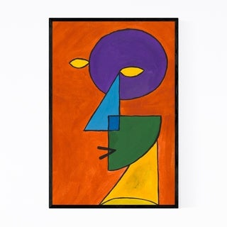Noir Gallery Abstract Geometric Face Painting Framed Art Print
