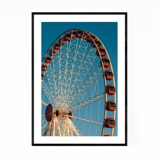 Noir Gallery Ferris Wheel Salerno Italy Framed Art Print