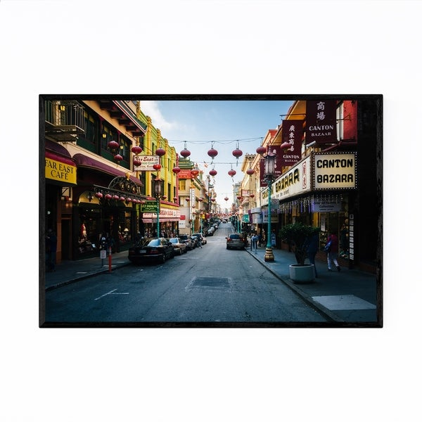 Noir Gallery Chinatown San Francisco Street Framed Art Print