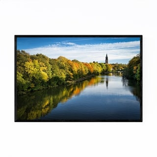 Noir Gallery Finland Autumn River Landscape Framed Art Print