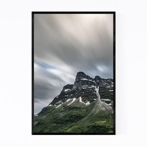 Noir Gallery Norway Mountains Landscape View Framed Art Print