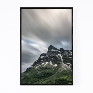 Noir Gallery Norway Mountains Landscape View Framed Art Print
