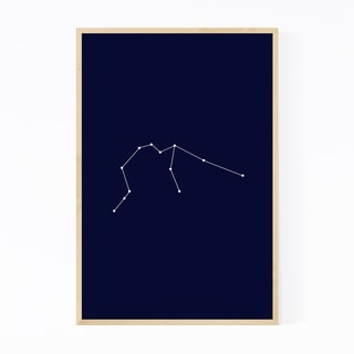 Noir Gallery Blue Aquarius Astrology  Framed Art Print