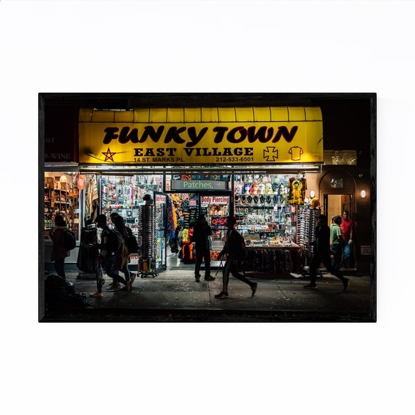 Noir Gallery Funkytown East Village New York Framed Art Print