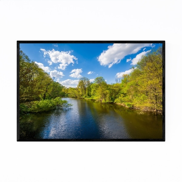 Noir Gallery The Mill River New Haven CT Framed Art Print