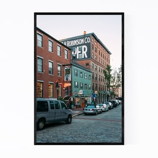 Noir Gallery Portland Maine Cobblestone City Framed Art Print