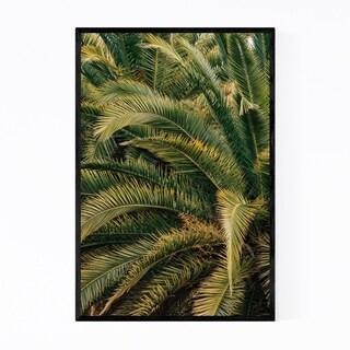 Noir Gallery Beach Palm Trees Barcelona Spain Framed Art Print