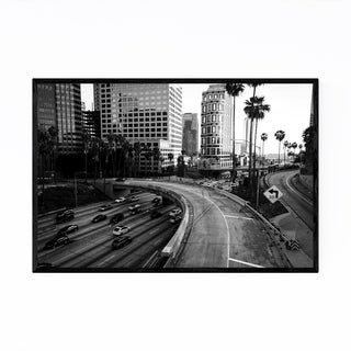 Noir Gallery Downtown Los Angeles Skyline Framed Art Print