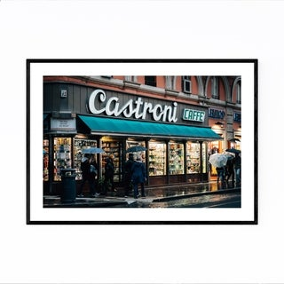 Noir Gallery Rome Italy Coffee Shop Sign Framed Art Print