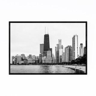Noir Gallery Chicago Skyline Lake View Urban Framed Art Print