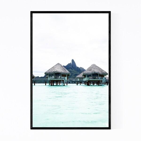 Noir Gallery Bora Bora Bungalows Coastal Framed Art Print
