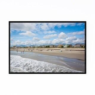 Noir Gallery Ventnor City, New Jersey Beach Framed Art Print