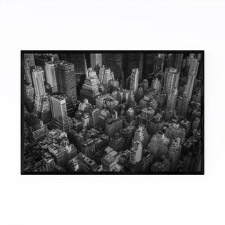 Noir Gallery Black White New York Skyline NYC Framed Art Print